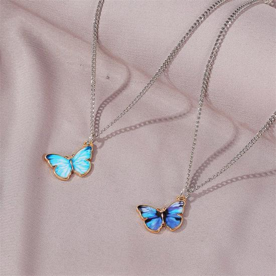 Vintage Necklace Pendant Necklace Chain Gold Butterfly Clavicle Necklace Layer Necklace Birthday Gift