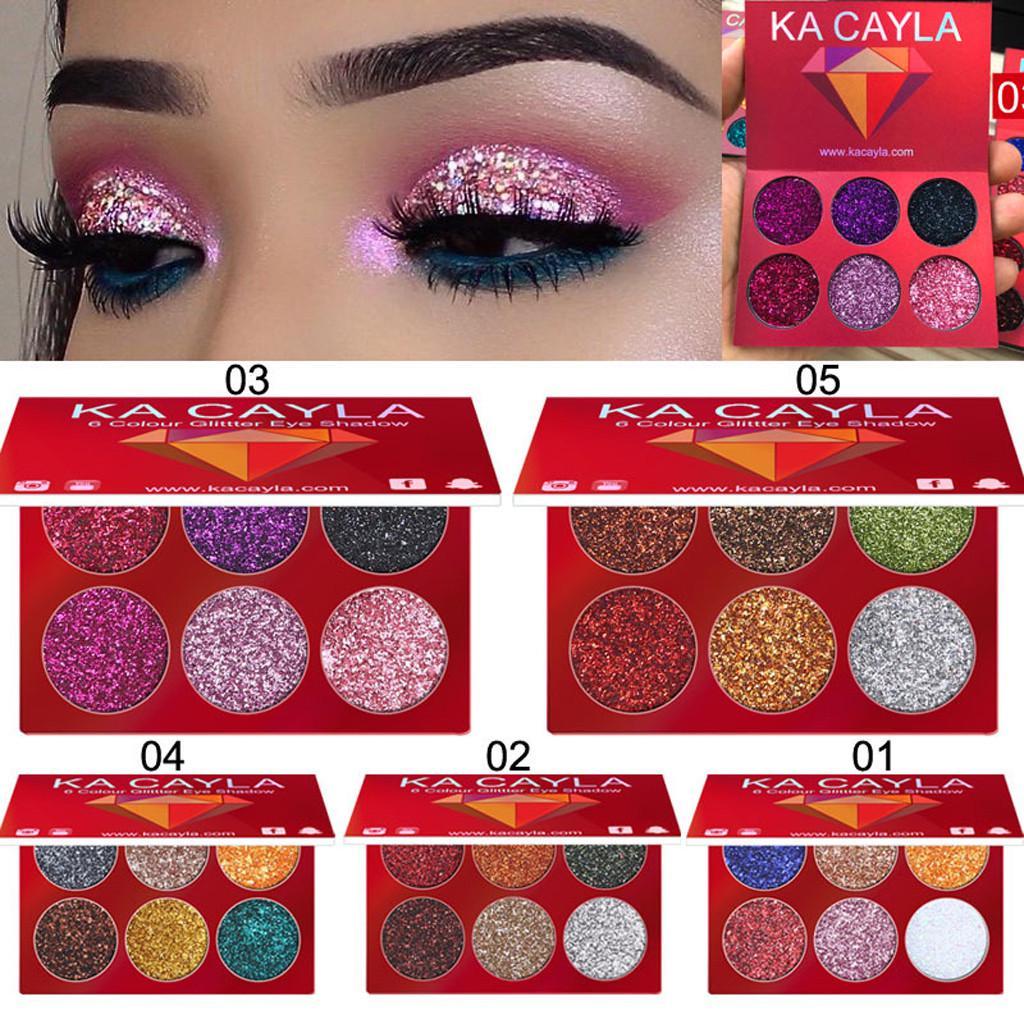 Макияж глаз тени теней косметический набор теней для век 6 цветов палитры фото