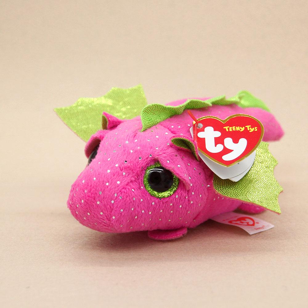 4 inch TY Beanie Boos DARBY the Dragon - New Teeny Tys Stackable Plush
