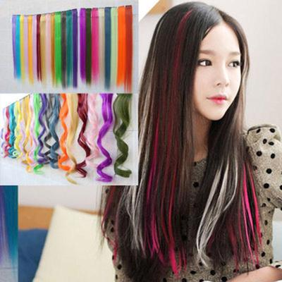 Girl/'s Fashion Harajuku Punk Colorful Long Wigs Hairpiece Wiglet Hair Accessory