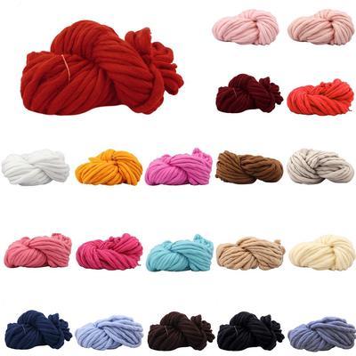 Super Thick Ply Yarn Soft Wool Roving Bulky Big Yarns Spinning Hand