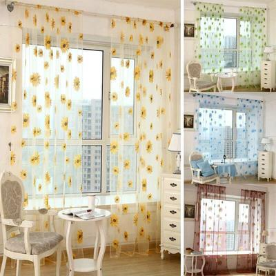 Buy Sunflower Kitchen Curtains At Affordable Price From 3 Usd Best Prices Fast And Free Shipping Joom