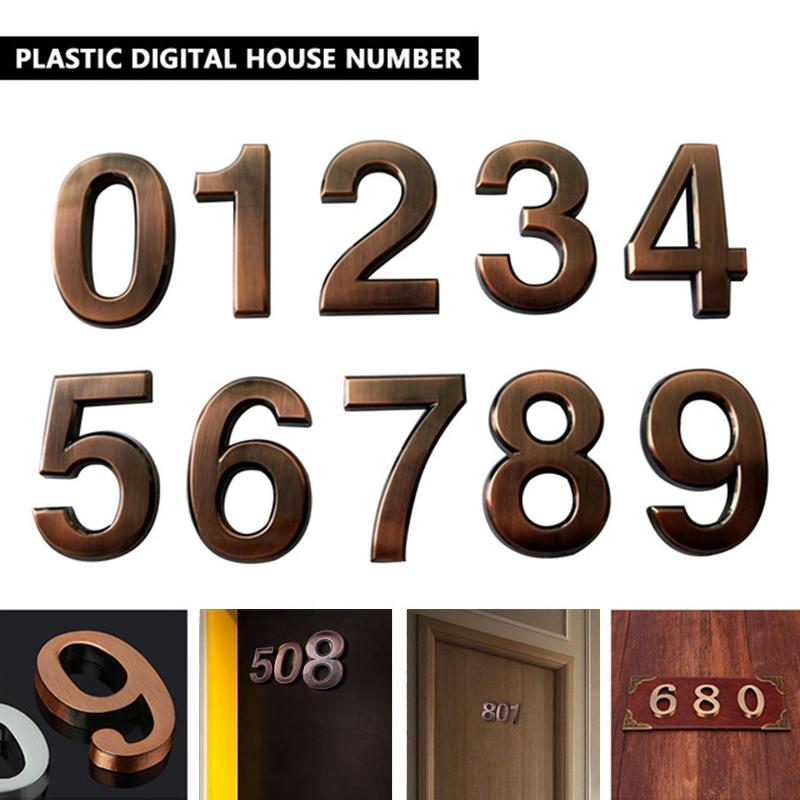 Self-adhesive Door Number Sign Plaque House Address Sign Plate 7