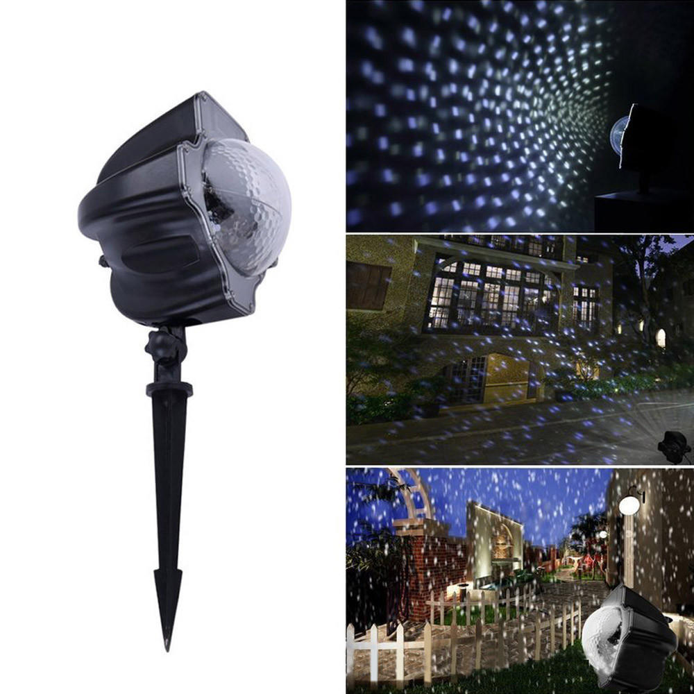 3.6W Projection Spotlight Christmas Lamp COOL Moving Snowflakes Projector Light