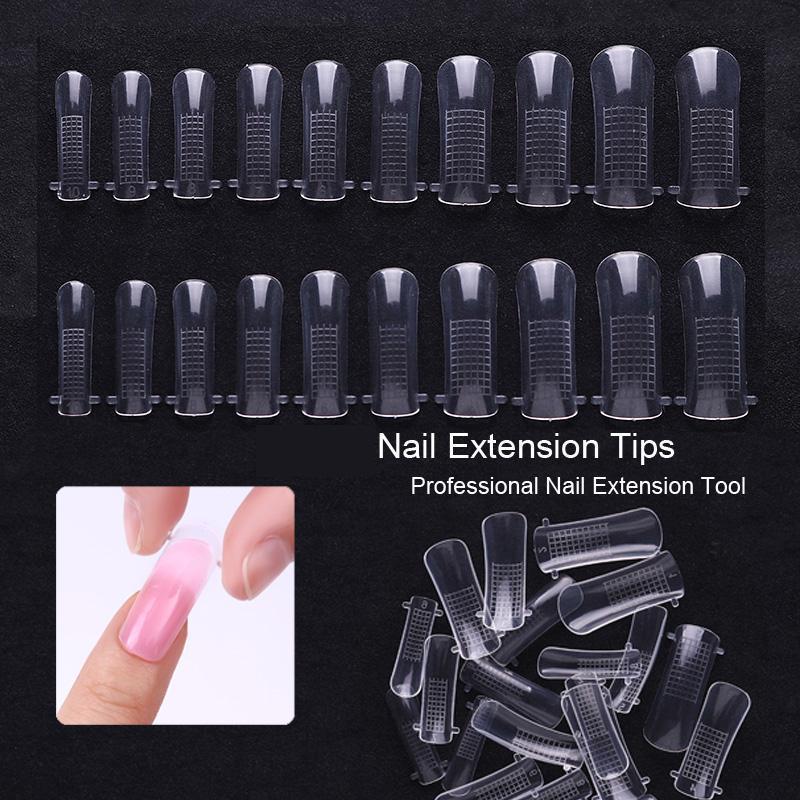 Накладные прозрачные формы для наращивания ногтей фото