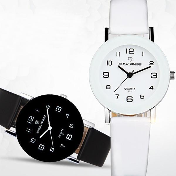 Womens Fashion Quartz Watch Casual Leather Strap Glamour Round Pointer Clock