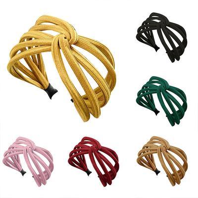 Creative Headband Hairband Bow Knot Cross Tie Cloth Headwrap Hair Band Hoop