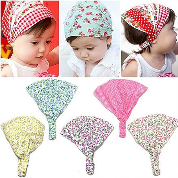 简单时尚款 印花纯棉 儿童头带(7色)