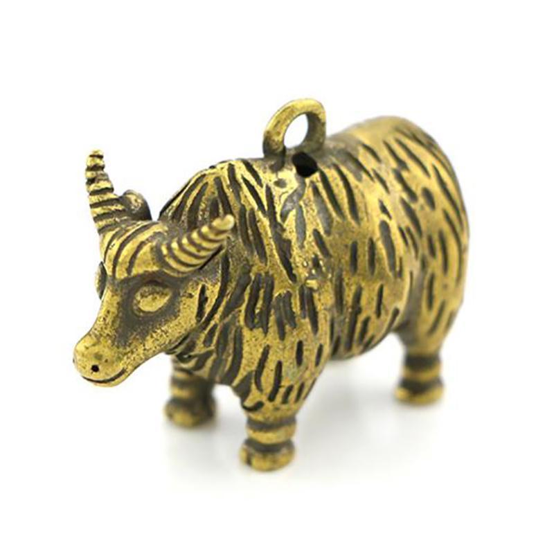 Solid Brass Turtle Figurine Decoration Animal Figurines Mini Statue Keychains