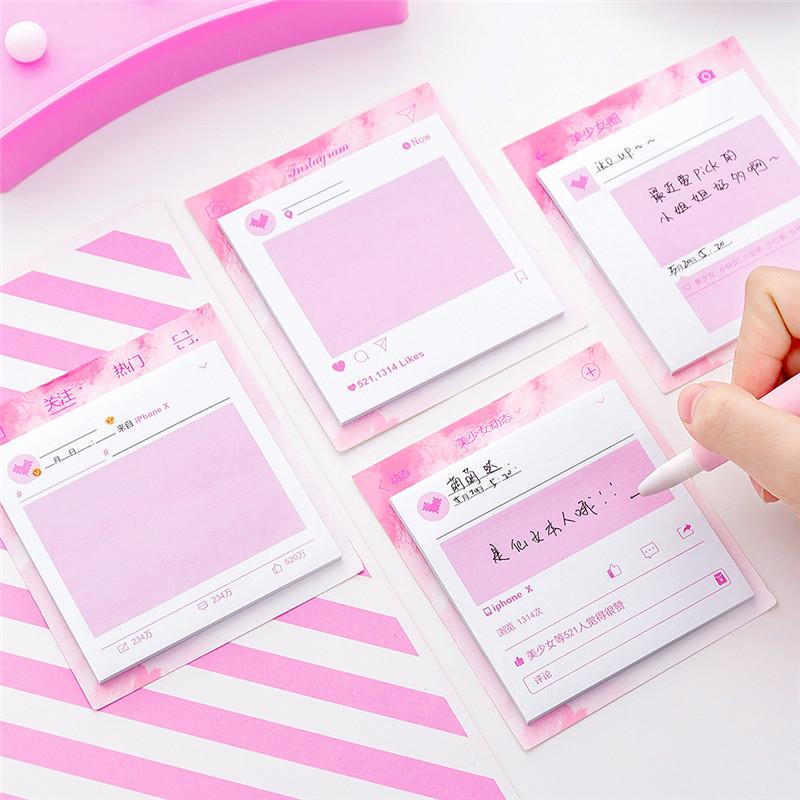 Memo Pads Sticky Notes Kawaii Cute Pink Girl Gift Stickers Office School Supplies Stationery Buy From 2 On Joom E Commerce Platform