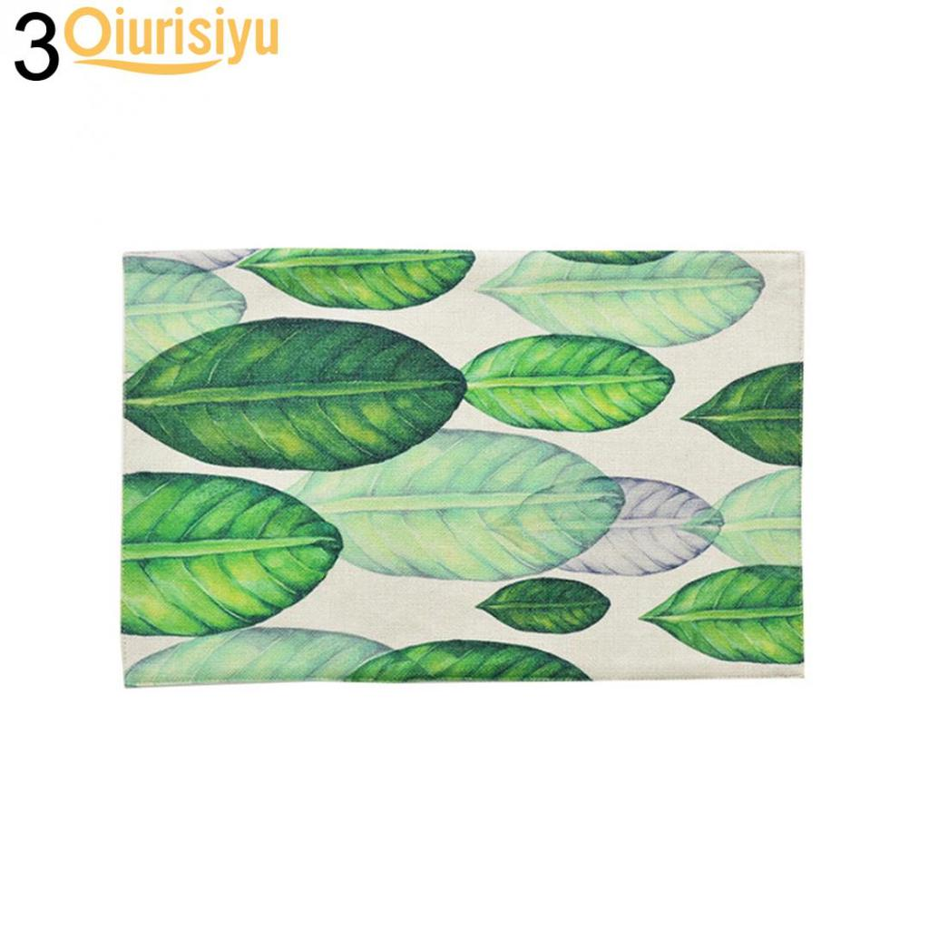 Green Leaves Leaf Kitchen Dining Table Decorative Rectangle Placemat Buy From 5 On Joom E Commerce Platform