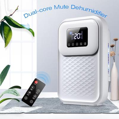 Upgrade Dual-core Mute Dehumidifier, With LED Touch Screen, Remote Control, Suitable for 30 Square Meters Room and Basement