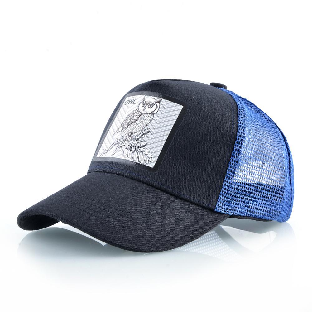 Mens Casual Baseball Cap Hip Hop Embroidery Mesh Trucker Snapback Hats Unisex