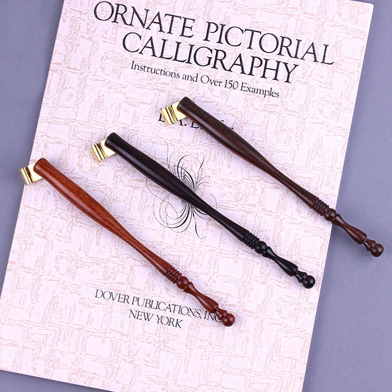 1pc Retro Wood Oblique Dip Pen DIY Calligraphy English Gift Copperplate Vintage