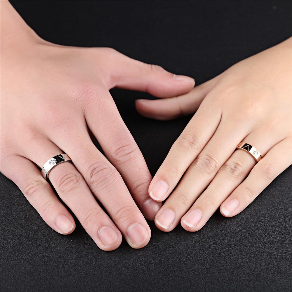 Couple Ring Wedding Jewelry For Lover Men Women Finger Rings-buy at ...