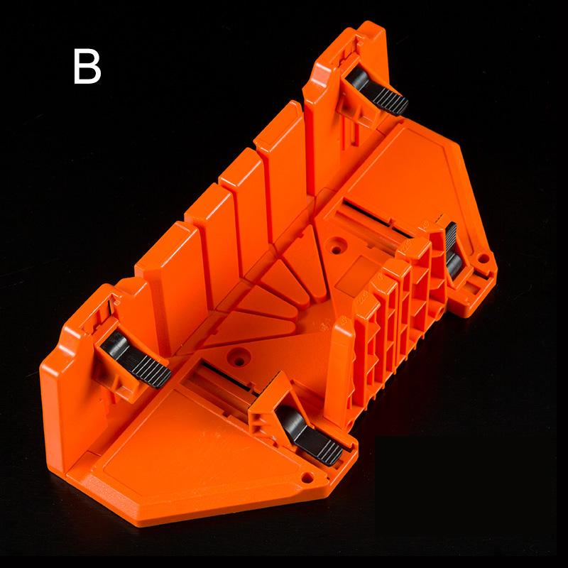 Wood Cutter Clamping Saw Angle Cutter Mitre Box 0//22.5//45//90 Degree ABS Plastic