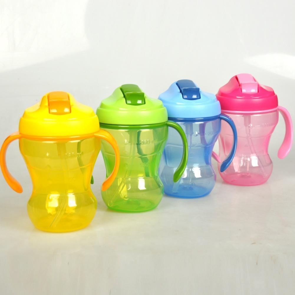 新款防漏婴幼儿学饮杯婴儿水壶吸管杯PP材质不含BPA儿童水壶260ml
