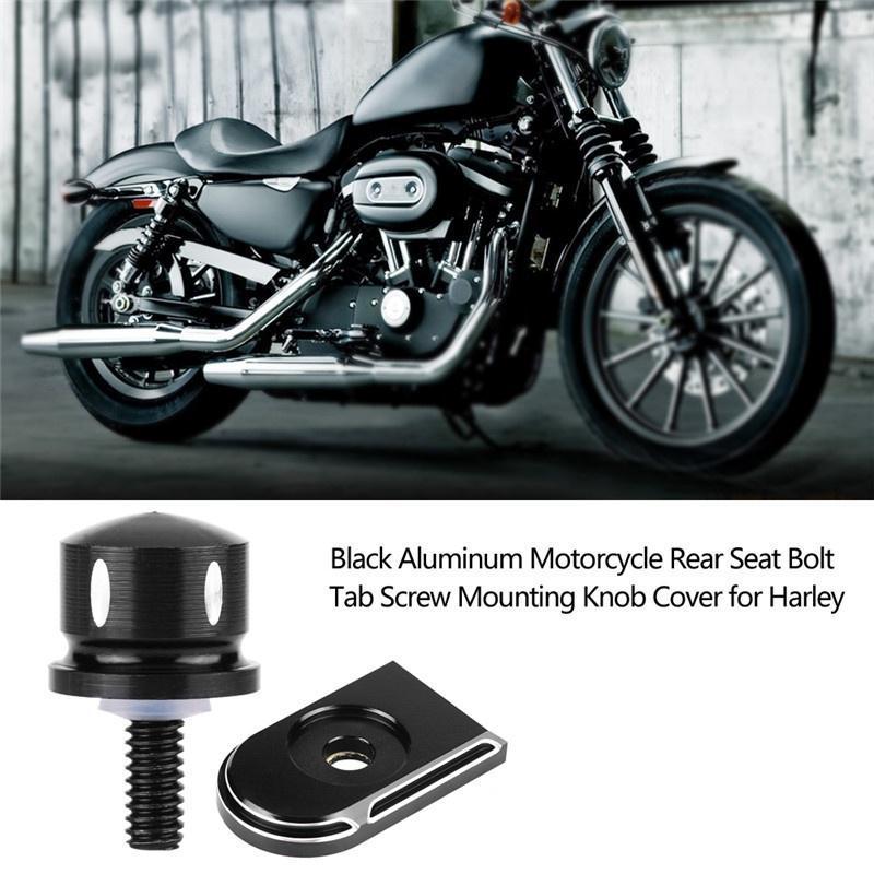 CNC Motorcycle 6MM Universal Rear Passenger Seat Bolt Screw for Harley Black