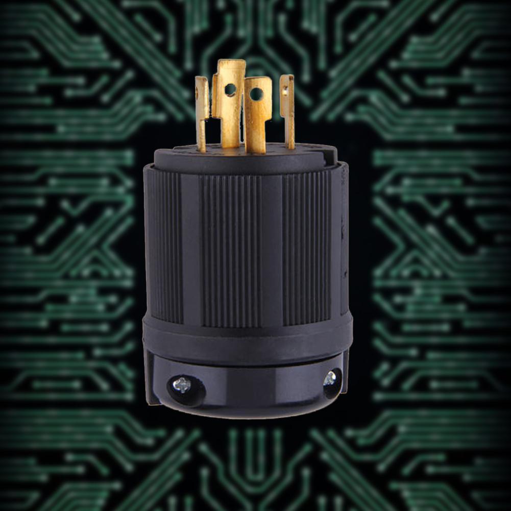 Outdoor Power Locking L14-30P Industrial Twist-Lock Plug 30A 125V 250V 4P 4W
