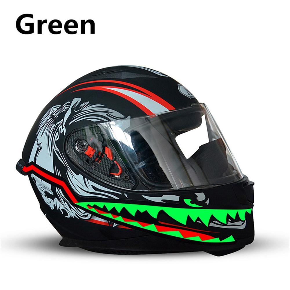 dirt bike atv helmet mohawks helmets 13inch LONG even style rubber Blue