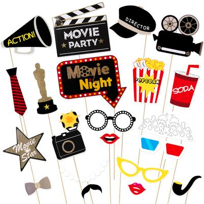 Photo Booth Sign Hanging Decoration Garland Moustache Wedding Parties