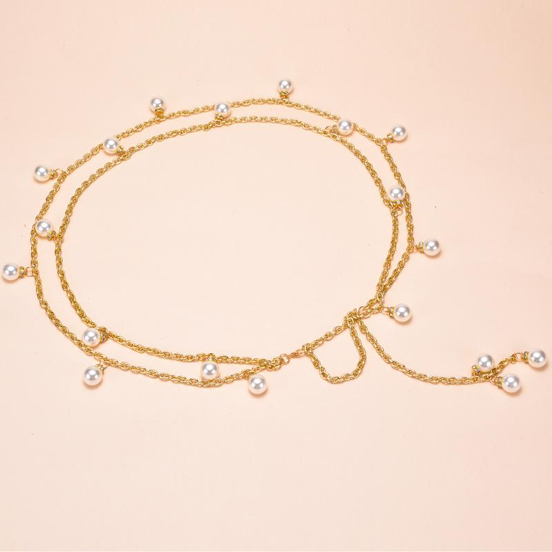 Vintage Women/'s Ladies Dress Gold Metal Waist Chain Tassel Belt Party Jewellery