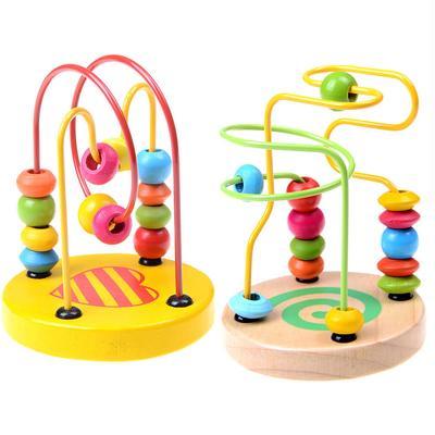 Bunte Holz Mini um Perlen Draht Labyrinth pädagogisches Spielzeug ...