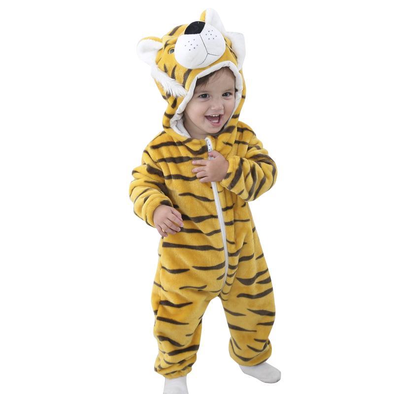 Toddler Kids Baby Pajamas Romper Kigurumi Animal Cosplay Hooded Jumpsuit Outfit