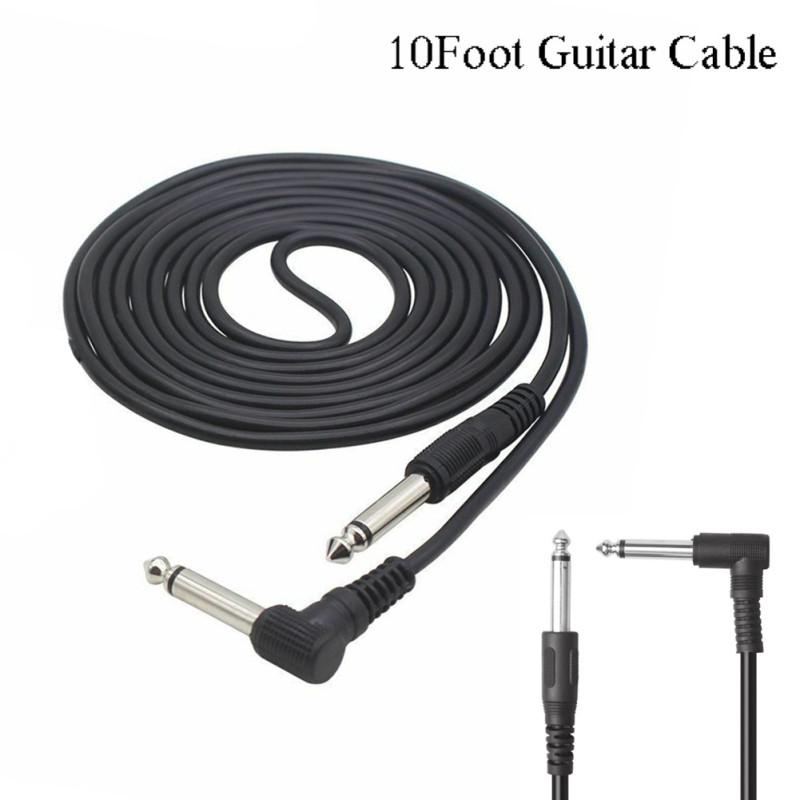 3m 10ft Electric Guitar Amplifier Cable Noise Reduction Adaptor 6.35mm Head for Musical Instrument
