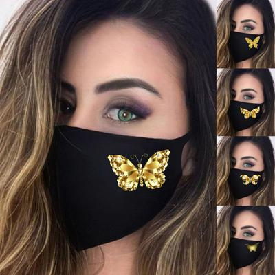 [DJ] 2021 Butterfly Print Adult Fashion Washable Reusable Pollution Cover Face Masks