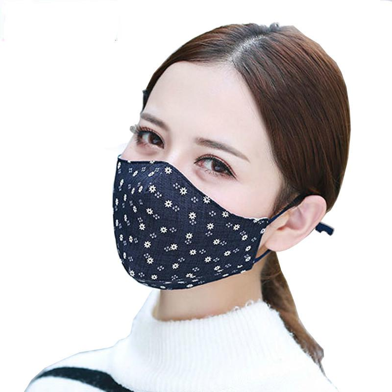 1pcs Fashion 3 Layer Face Mouth Mask Anti Dust Filter Windproof Mouth-muffle Bacteria Proof Flu S Care Reusable Women's Accessories Women's Masks