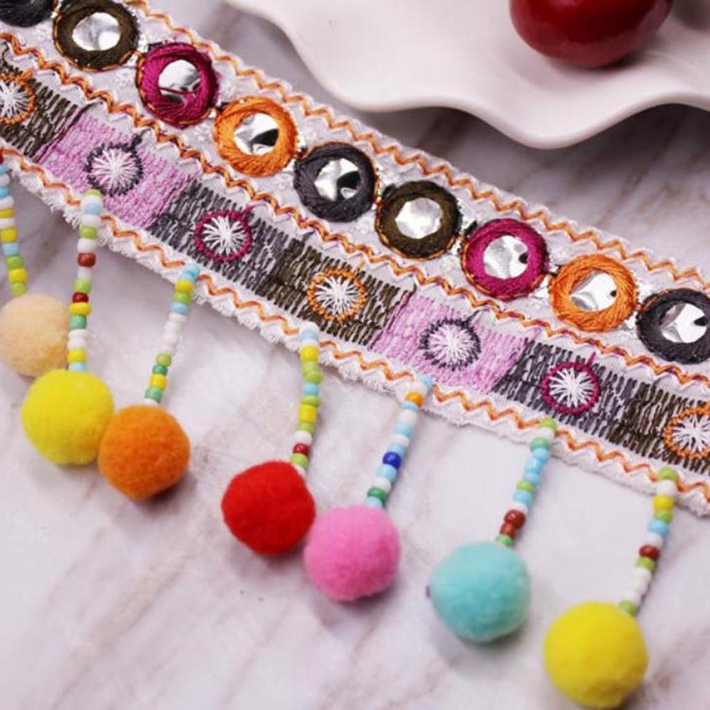 Tassels Trim Braid Fringe Ribbon Edging Craft Decoration 3.cm//1.18/'/' wide 1 yd