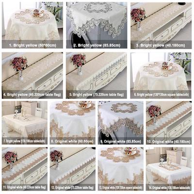 5 Size European Style Modern Vintage Cotton Rectangle //Square Tablecloth Covers