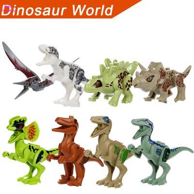 8 Pack Dinosaur DIY Building Blocks Action Figures Playset DIY Toys for Kids