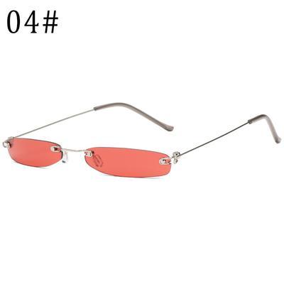 8d8a56f8b3 Glasses Unisex Sunglasses Small Narrow Sun Glasses Retro Rectangle Female Rimless  Glasses Ultralight