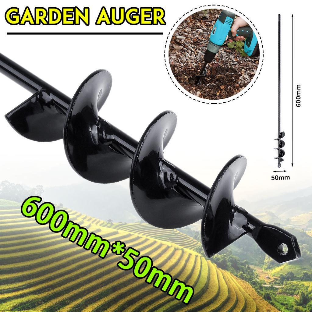 600×50mm Garden Auger Earth Planter Drill Bit Post Hole Digger Auger Drill