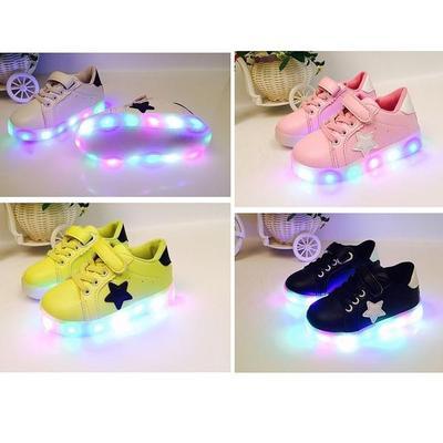 Kinder Unisex Fashion Flash LED Trainer leuchtende Sneakers Leuchten ...