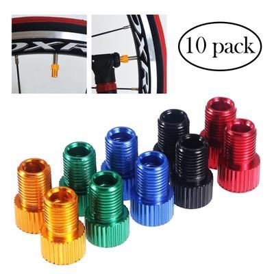 5 PCS// Set Valve Adapters Bike Converters for Mountain Bike Air Compressor Tools