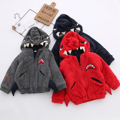 ELOVELY Kids Baby Girls Cartoon Hoodie Wool Knit Sweater Jacket Fall Winter Warm Coat