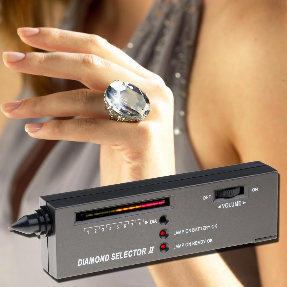 Jewelry Diamond Tester Electronic Moissan Diamond Tester LED Indicator Moissanites Detector Selector Pen Diamonds Watcher Tool for Novice and Expert