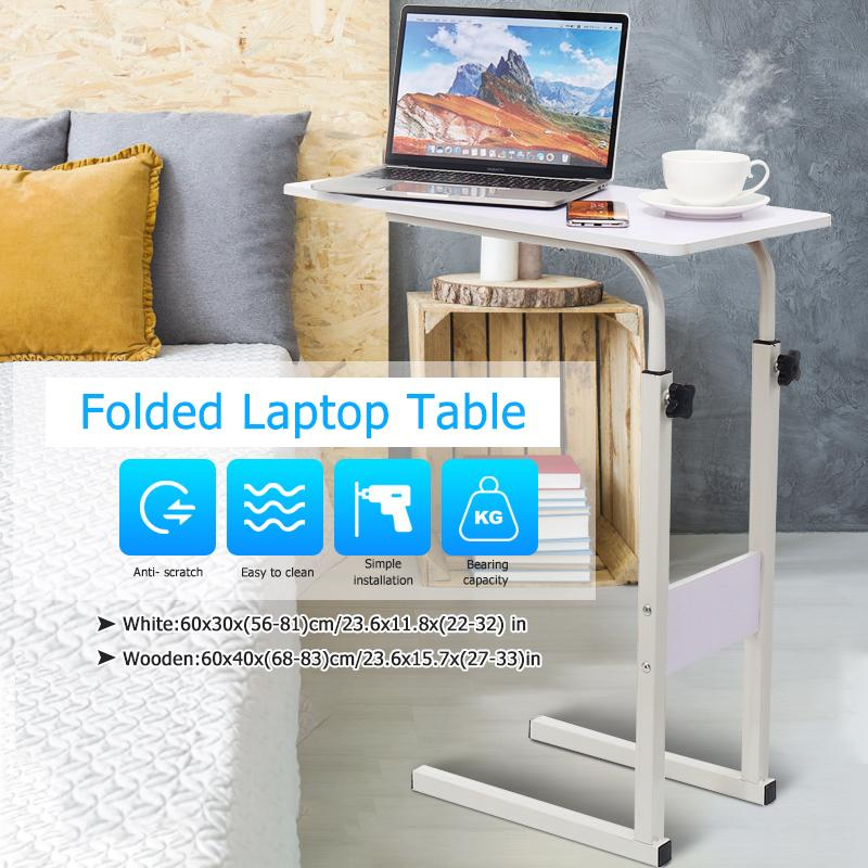 2 Models Foldable Computer Table, Portable Folding Computer Desk Laptop Table Workstation Furniture Black