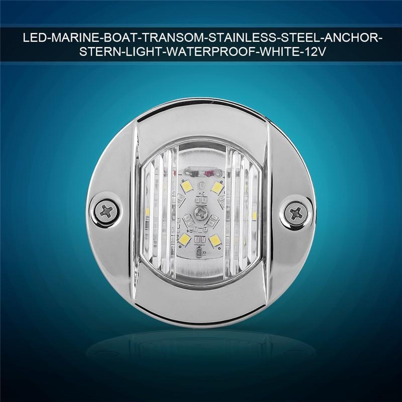 LED Marine Boat Transom Stainless Steel Anchor Stern Light Waterproof White