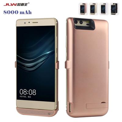 new product 803b8 1fa50 8000mAh Battery Case For Huawei P9 Plus Charger USB Smart Cover ...