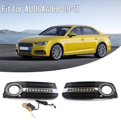 Front Bumper Fog Trim Chrome Mouldings PAIR Fits AUDI A6 C6 2009-2011