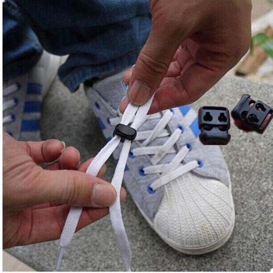 10pcs Non-slip Shoelace Buckle Stopper Rope Clip Clamp Cord Lock Outdoor Running