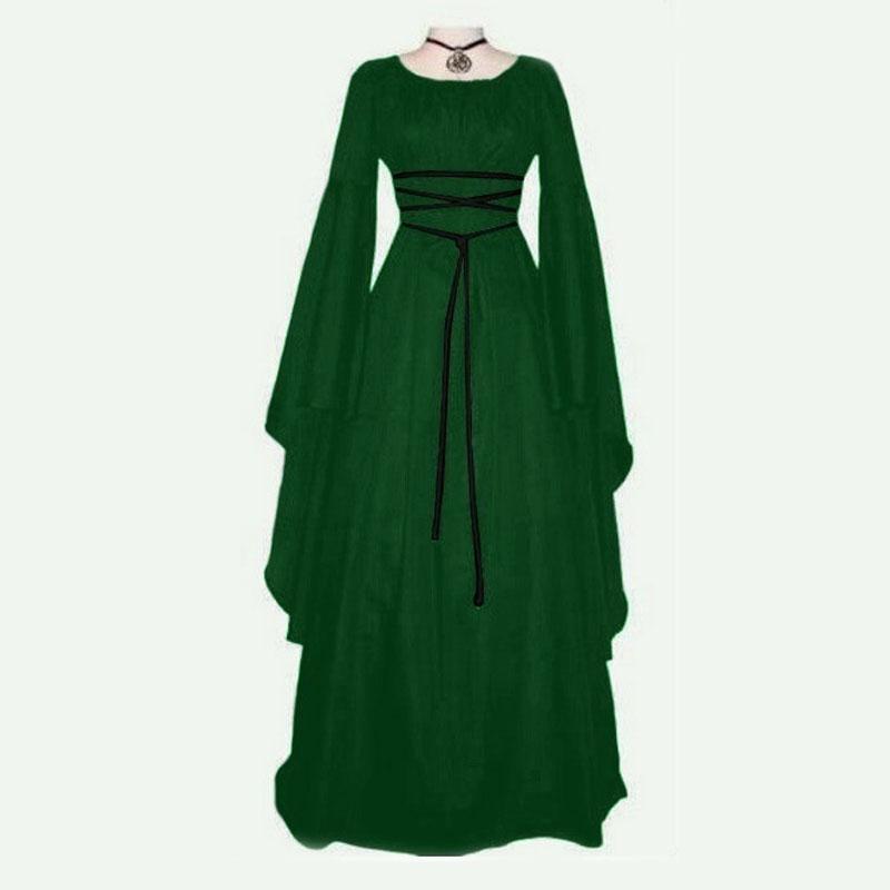 Las mujeres de moda Medieval Renacimiento Retro Cosplay traje largo Lseeve  Vestido - comprar a precios bajos en la tienda en línea Joom 2c0b5c8f0680