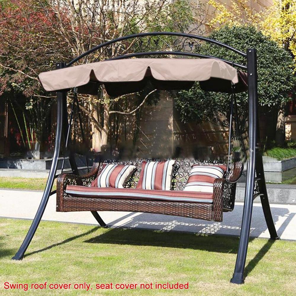 Outdoor Swing Canopy Top Sunshade Replacement Patio Garden Seat Cover Waterproof