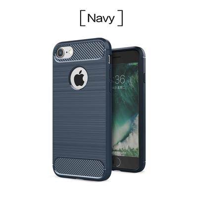 Luxury Carbon Fiber Texture Brushed Silicone Slim Armor Phone Case For iPhone X 5 5S SE