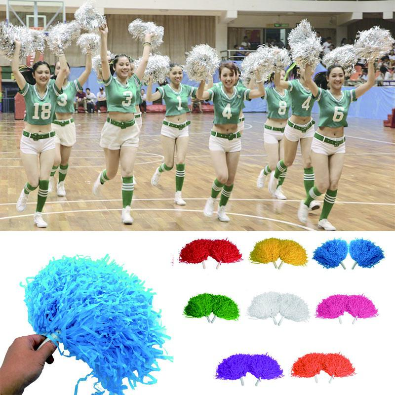 12PCS Good Quality Cheer Poms Cheer Props for Sports Events Performance Cheering