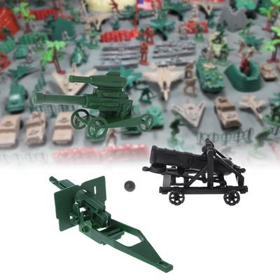 300pcs Plastic Military Playset Army Men w// Tank Plane Cannon Kids Toys Gift